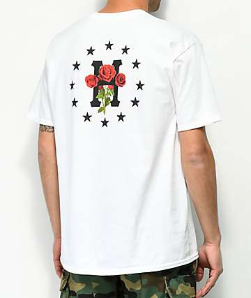 HUF Stoned Roses White T-Shirt