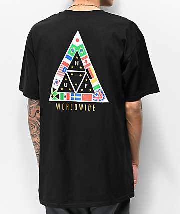 d886e9d8a0742 HUF TT Nations Black T-Shirt
