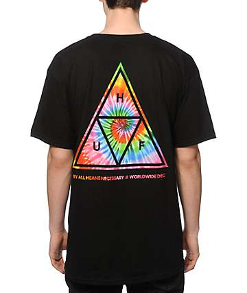 HUF Tie Dye Triangle Fill T-Shirt