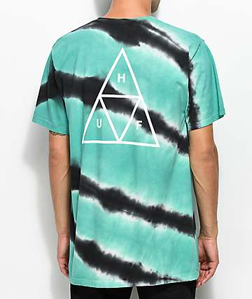 HUF Tiger Dye Teal & Charcoal T-Shirt