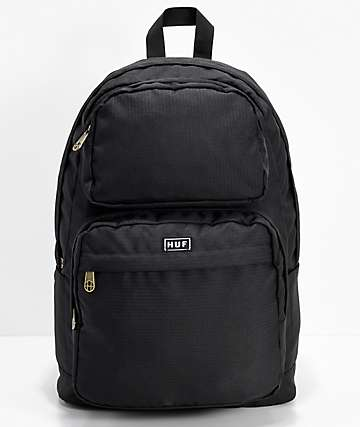 HUF Tompkins Black Backpack