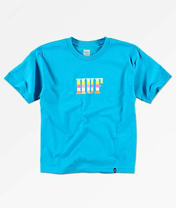 HUF Tourist camiseta turquesa para niños