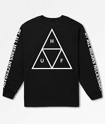HUF Triple Triangle Black Long Sleeve T-Shirt