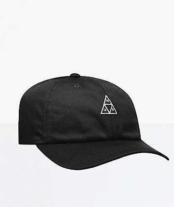 HUF Triple Triangle Black Strapback Hat