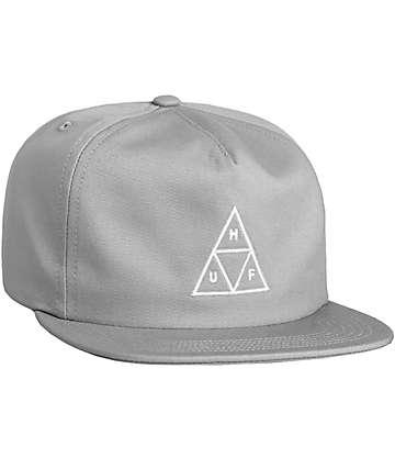 HUF Triple Triangle Cloud Grey Snapback Hat