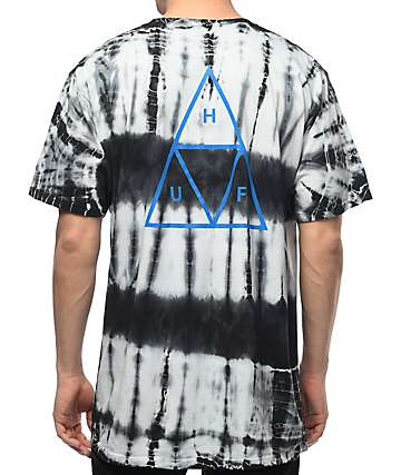 HUF Triple Triangle Lightning Black T-Shirt