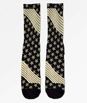 HUF USA Camo Crew Socks