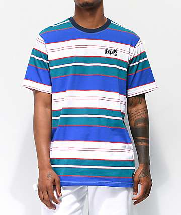 HUF Upland Blue Striped Knit T-Shirt