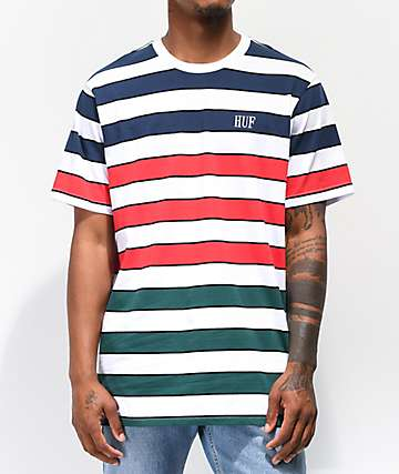 81505daa97 HUF Variant Striped White Knit T-Shirt