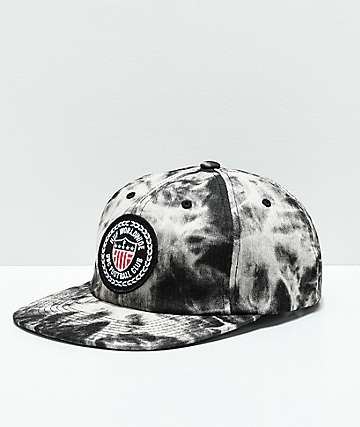 HUF WC Federation Black Washed Strapback Hat