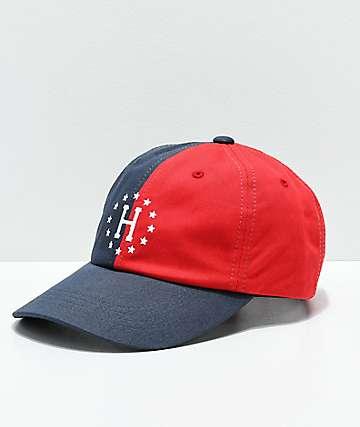 HUF WC Offside gorra azul y roja