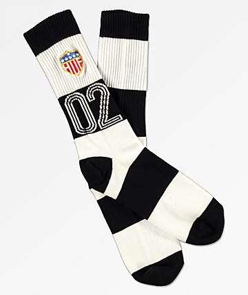 HUF WC Play Maker Black & White Crew Socks