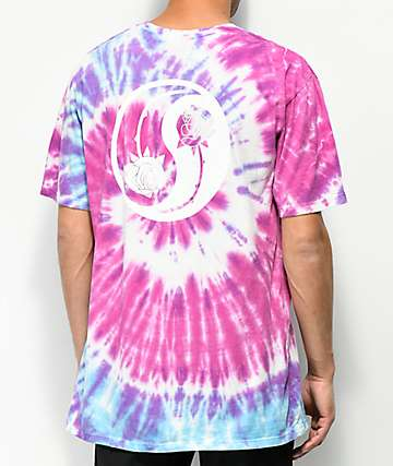 HUF War Of The Roses Purple Tie Dye T-Shirt
