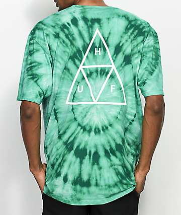 HUF Wash Triple Triangle camiseta en verde azulado
