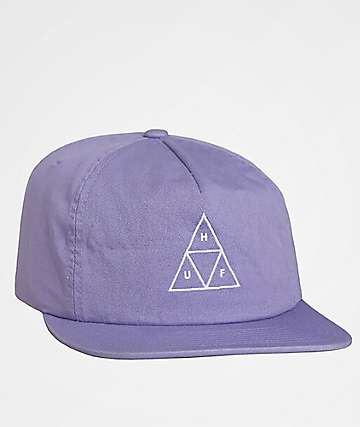 HUF Washed Triple Triangle Purple Snapback Hat