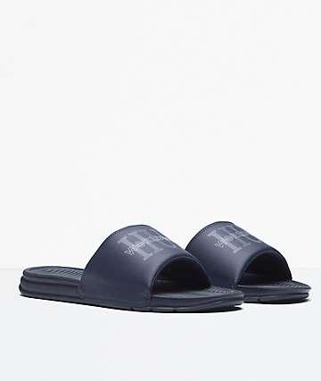 HUF Worldwide Blue Slide Sandals