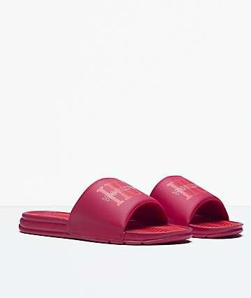 HUF Worldwide Red Slide Sandals