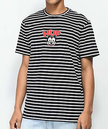 HUF X Felix the Cat Black & White Striped T-Shirt