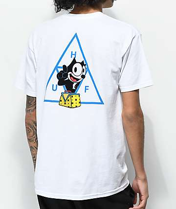 HUF X Felix the Cat Triple Triangle camiseta blanca