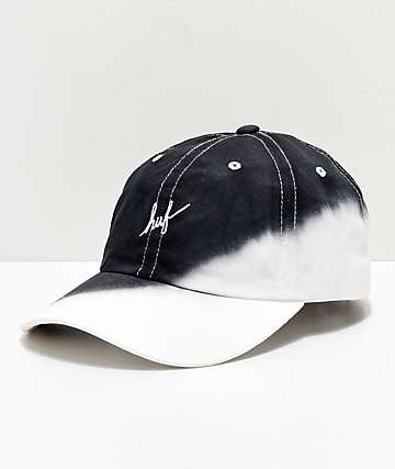 HUF gorra negra con efecto tie dye