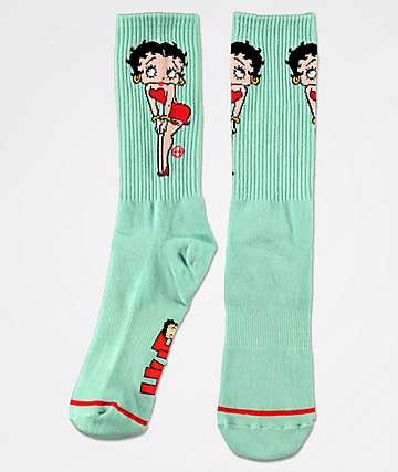 HUF x Betty Boop Teal Crew Socks