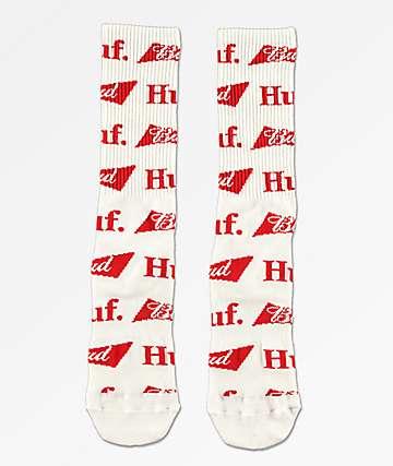 HUF x Budweiser Bow calcetines blancos