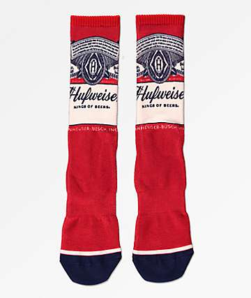 HUF x Budweiser Buds For You calcetines rojos