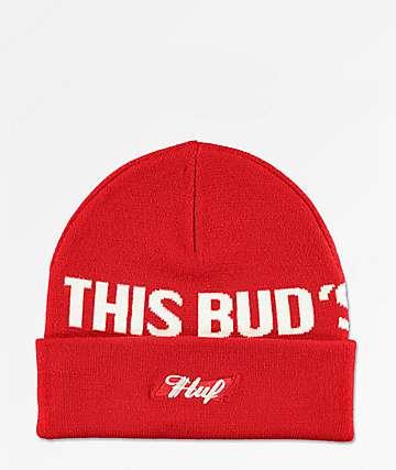 HUF x Budweiser Buds For You gorro roja
