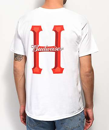HUF x Budweiser Classic H White T-Shirt