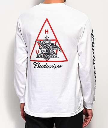 HUF x Budweiser Eagle White Long Sleeve T-Shirt
