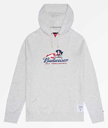 HUF x Budweiser Heritage Oatmeal Pullover Hoodie
