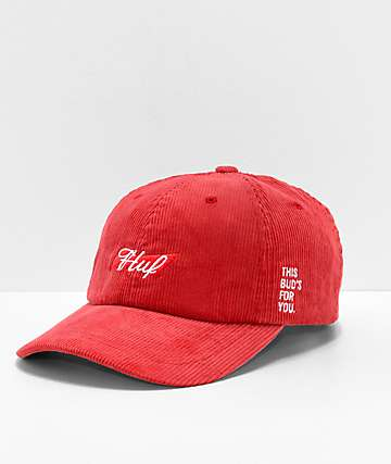 e0a2b54d704be HUF x Budweiser Red Strapback Hat