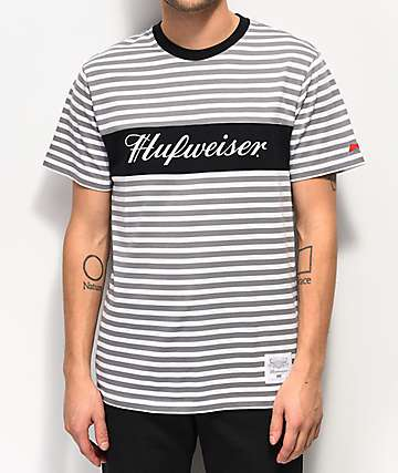 HUF x Budweiser Stripes Black T-Shirt