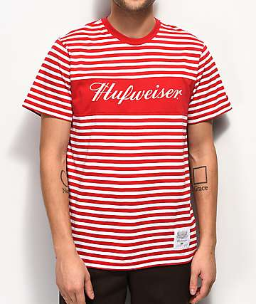 HUF x Budweiser Stripes Red T-Shirt