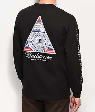 HUF x Budweiser Triangle Black Long Sleeve T-Shirt