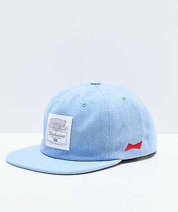 HUF x Budweiser gorra azul claro