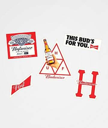 HUF x Budweiser paquete de pegatinas