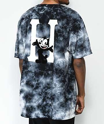 HUF x Felix The Cat Classic H Crystal Wash Black T-Shirt