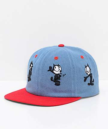 HUF x Felix The Cat Doing Things Blue 6 Panel Hat