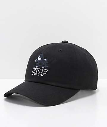 HUF x Felix The Cat Skate Black Dad Hat