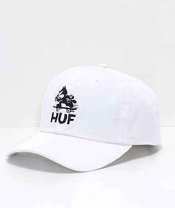 HUF x Felix The Cat Skate White Dad Hat