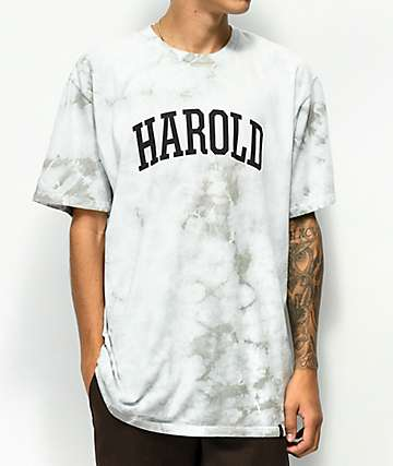 HUF x Harold Hunter Foundation Grey Crystal Wash T-Shirt
