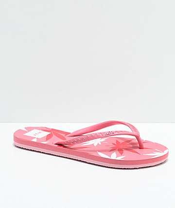 HUF x Hayn Pink Plantlife Sandals