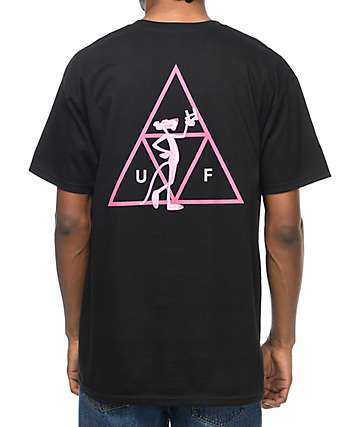 HUF x Pink Panther Triple Triangle Black T-Shirt
