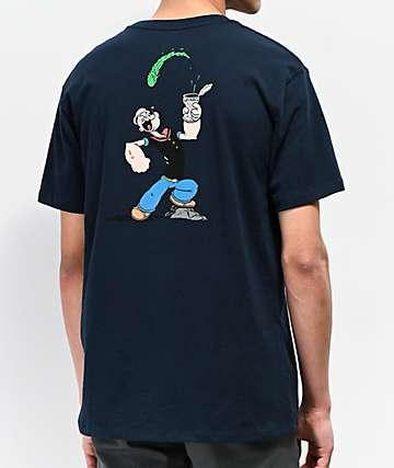 HUF x Popeye Spinach Navy Pocket T-Shirt