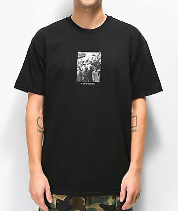 HUF x Real Crowd Black T-Shirt