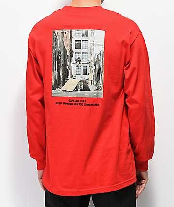 HUF x Real Cups & Jugs camiseta roja de manga larga