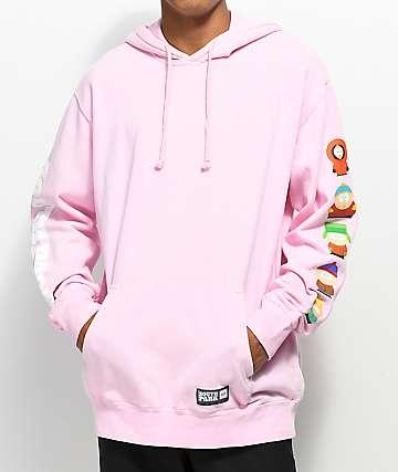 HUF x South Park Cast sudadera rosa