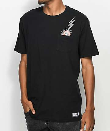 HUF x South Park Dead Kenny camiseta negra con bolsillo