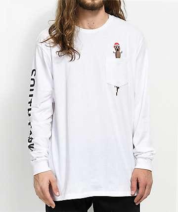 HUF x South Park Hankey camiseta blanca de manga larga con bolsillo